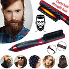 FixedPriceelectric quick heated beard straightener brush hair comb curler curling