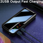 5000000mAh Portable Power Bank LCD 2 USB External Battery Charger for Cell Phone