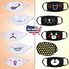 Washable Reusable Cute Face Masks Cartoon Emoji Adult Cotton Cloth Mouth Cover