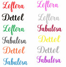 'Mrs Hinch Zoflora Dettol Fabulosa Vinyl Decal Sticker Label For Spray Bottle X 1