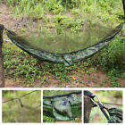 Double Person Travel Outdoor Camping Hanging Hammock Bed w/ Mosquito Net