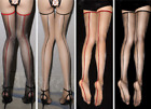 1D Retro Backline Shiny Long Stockings Leg Transparent Seamed Nylon Pantyhose