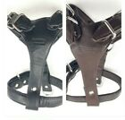 Heavy Duty Genuine Leather Soft and Durable Padded Dog Harness for Training