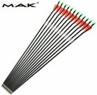 6/12/24Pcs 30inch Archery Mix Carbon Arrows OD7.8mm For Compound Bow Hunting US