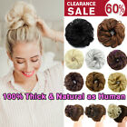 Thick Messy Bun Hair Piece Scrunchie 100% Natural Hair Extensions Real as Human