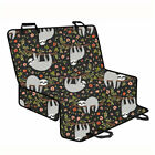 Black Car Seat Cover For Pets Cute Sloth Design Dog Cat Rear Protector Soft Mats