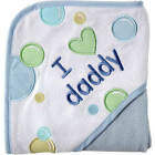 Luvable Friends Baby Hooded Towel, Blue Daddy