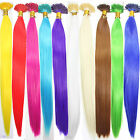 """5/10/20 PCS Solid Color Synthetic Feather Hair Extensions 16"""" Long Hairpiece"""