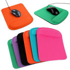 Ergonomic Square Large Thick Wrist Support Comfortable Black Mouse Mice Mat Pad