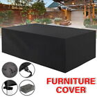 Outdoor Patio Furniture Cover Outdoor 4/6/8 Seater Garden Table Rectangular