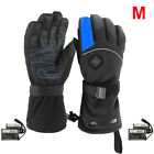 Battery Electric Heated Motorcycle Warm Thermal Gloves Ski Waterproof Outdoor AC