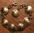 WHEAT PENNY CHARM BRACELET U PICK YEAR BIRTHDAY ANNIVERSARY 7 LUCKY COPPER COINS