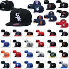 Luxury Embroidered MLB Teams Logo Baseball Cap Adjustable Snapback Flat Brim Hat on Ebay