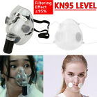 Reusable Washable Clear Face Mask Anti-droplets Air Pollution Filter  Respirator