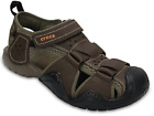 Men's CROCS Swiftwater Fisherman Leather Sports Sandals Shoes