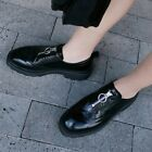 Womens Fashion British Retro Carved Zipper Oxford Shoes Collegiate Ankle Boots