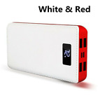 Fast Charging 2000000mAh 4USB Power Bank LCD LED Battery Charger Phone Pack Case