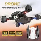Foldable RC Drone Quadcopter WIFI FPV 2.4G HD 4K Wide-angle Dual Camera Drone UK