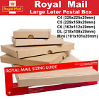Royal Mail Large Letter Postal Box PiP Packaging Mailing C4 C5 C6 DL Mini Cheap