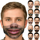 Fashion Women Men 3D Print Funny Mouth Mark Cover Facemask Washable HipHop Party