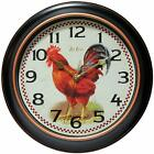 Infinity Instruments Rotterdam 12 Silent Rooster Wall Clock