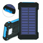 2000000mAh Solar Power Bank 2USB LED Battery Charger for Phone Case Backup New