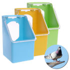 1x Bird Parrot Food Water Bowl Cups Pigeons Pet Cage Sand Cup Feeder Feeding-Box