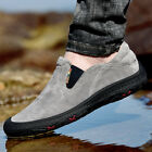Men Slip On Loafers Causal Round Toe Outdoor Sneakers Casual Trail Running Shoes