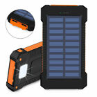 Solar Power Bank 2000000mAh 2 USB Charger LED Battery Backup for Cell Phone Pack