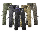 Men's Combat Army Military Camouflage Casual Cotton Cargo Trousers Working Pants