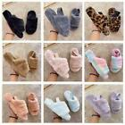 Womens Snugg Warm Fluffy Faux Fur Slippers Slides Yeah Sandals Elastic Strap UK