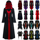 Halloween Womens Renaissance Medieval Gothic Witch Costume Fancy Dress 16
