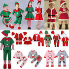Kid Baby Christmas Fancy Dress Costume Santa Claus Elf Outfit Xmas Party HOT