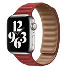 US Stock Genuine Leather Link Adjustable Strap Apple Watch Series 2 3 4 5 6 Band