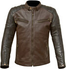 Merlin Chase Leather Jacket Brown Black Motorcycle Jacket New