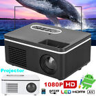 Portable Home Theater 1080P 4K LED Video Projector 16:9 AVHDMI USB 3.5mm TFCard
