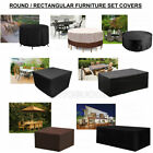 Waterproof Garden Patio Furniture Cover Rattan Table Cube Seat Set Cover Outdoor