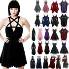 New Womens Retro Cosplay Costume Lady Vintage Punk Gothic Steampunk Party Dress