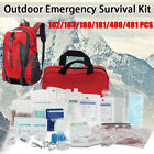 480X First Aid Kit Bag Camping Emergency Gear Survival Home Car Medical Backpack