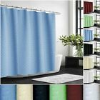 Extra Long Diamond Shower Curtain Water Resistant  Assorted Colours with Hooks