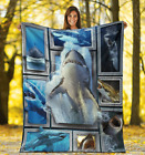 SHARK 3D FLEECE BLANKET Washable and Reusable