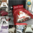 Printed Duvet Cover & Quilt Bedding Set With Pillowcases Single Double King Size