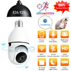 Bulb E26 E27 Connector IP Camera WiFi PTZ Auto Tracking Waterproof Home Security