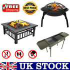 Portable Folding Fire Pit Garden Courtyard Outdoor Party BBQ Camping Grill Tool