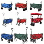 Outdoor Utility Wagon Collapsible Beach Garden Cart Grocery Shopping Trolley NEW