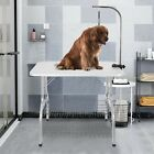 Robust Steel Collapsible Non-slip Grooming Table With Arm Basket Dogs Cats Pets