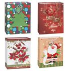 CHRISTMAS XMAS Gift Bags - Printed Designs - Present Packaging Wrap Santa