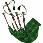 Scottish Great Bagpipes Silver Amounts/Rosewood Bagpipe Brown Color - 6 Tartans