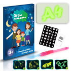 Fluorescent Light Writing Pad Kids Drawing Painting Educational Board Toy Gift