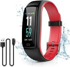 Kirlor Fitness Tracker, Colorful Screen Smart Bracelet with Heart Rate Blood